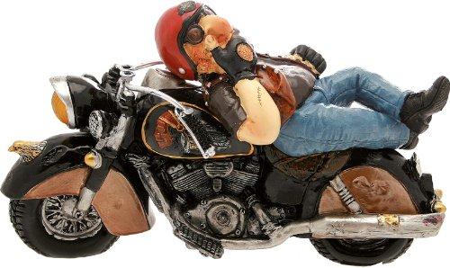 CERTRE Motard avec Moto Noire cm.Expédition 32 h.19 (Prix Fixe Euro 11,90 - TU Peux Ajouter Autres Articles dans Le même Ordre jusqu'à Un Poids Total de kg.40)