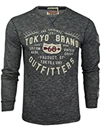 Tokyo Laundry 'Timperley' T-shirt - Manches longues - Homme