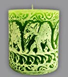 Handcraft Green Christmas Pillar Candle ...