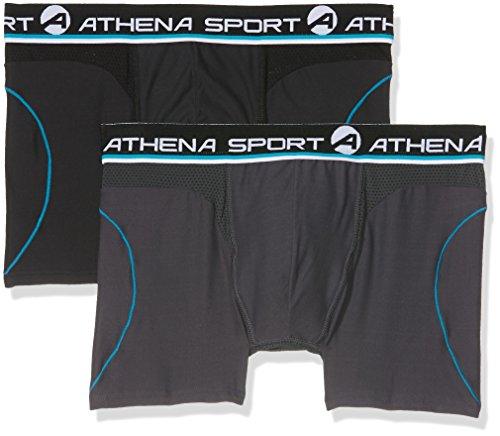 Athena Herren Badehose Multicolore (Anthracite/Noir)