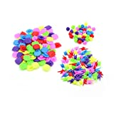 Spoke Clips / Spoke Decoration for bicycles, Plastic, Colourful, Pack of 180