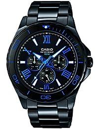 Casio Herren-Armbanduhr Analog Quarz Edelstahl MTD-1075BK-1A2VEF