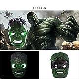 Led Glow Batman Maschere Spiderman America Capitan Iron Man Hulk Star Wars Maschera Bambini Maschere Halloween Partito Cos Supereroi Props