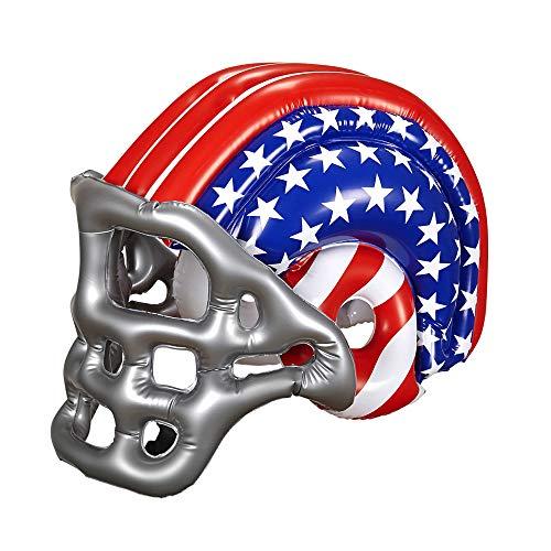 WIDMANN 04868 Aufblasbarer Footballhelm mit Amerikanischen Sternen und Streifen für Erwachsene, One ()