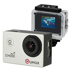 QUMOX WIFI SJ4000 Action Sport Cam Camera étanche Full HD 1080p 720p Video Helmetcam argente, avec boîtier étanche