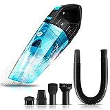 Aspirateur eau et poussière, batterie lithium-ions 14,8V (autonomie 20 mn), capacité 0,5l, sans sac, chargeur mural (Noir)