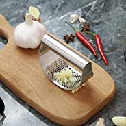 Perfect garlic press stainless steel, kitchen tool garlic mincer. Can be used as ginger onion garlic chopper.
