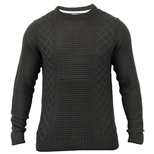 Hommes Pull Sweater Tricot Par Soul Star Charbon - BRADBROOKBY