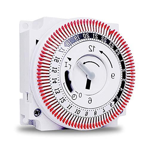 SODIAL Interruttore di Temporizzazione a 24 Ore Temporizzatore Meccanico Multifunzione Interruttore Dispositivo Temporizzazione Industriale Protegge I Timer Del Pannello