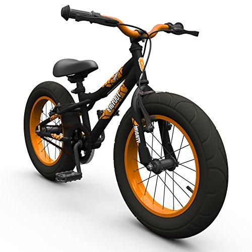 16-bigfoot-boys-kids-bike-childrens-silverfox-bicycle-in-black-fat-tyres