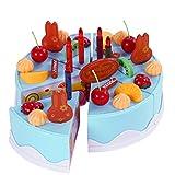 Giplar 38pcs Décoration de Bricolage Jeu de Fête Gâteau de Fête d'anniversaire avec des Bougies pour...