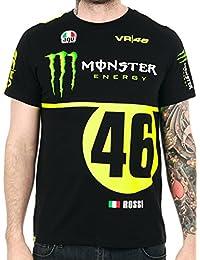 Tee shirt Valentino Rossi Monster Energy VR46 Noir