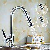 Auralum Chrom Küchearmatur Wasserhahn Waschtischarmatur Einhebel Mischbatterie Wasserfall Waschbecken Armatur für Küche