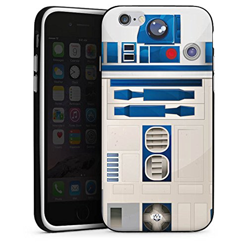 Apple iPhone 5s Hülle Case Handyhülle Star Wars Merchandise Fanartikel R2D2 Silikon Case schwarz / weiß