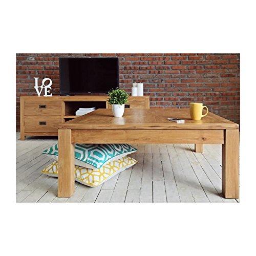 Ankor table basse carrée 100x100 cm - bois naturel