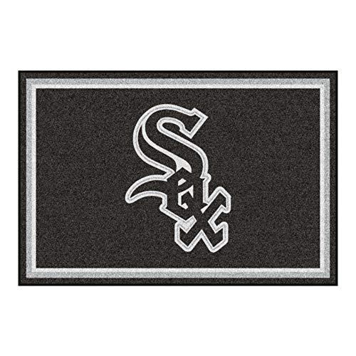 FANMATS MLB Chicago White Sox Nylon Face 5 x 8 Plüsch Teppich - 5 X 8 Teppich