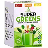 Daily SuperGreens Superfood Vegetable and Fruits Powder Nutrition with Organic Spirulina, Wheatgrass, Chlorella
