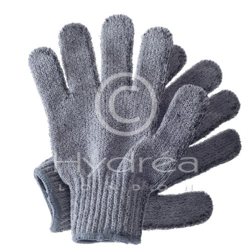 Hydrea London carbonisé Bambou Gants exfoliants Bceg1