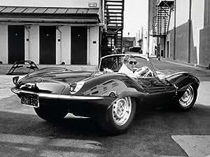 Time Life Steve Mcqueen Toile Motif Jaguar 60x80cm