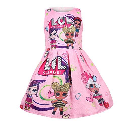 OL Rock Tutu Kleinkind Kinderkleidung Geburtstagsgeschenk Party Kostüm Alter 3-8 Jahre,pink,140cm ()