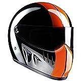 Bandit Helmets Motorradhelm XXR für Streetfighter, Größe:M(57/58);Farbe:schwarz/orange