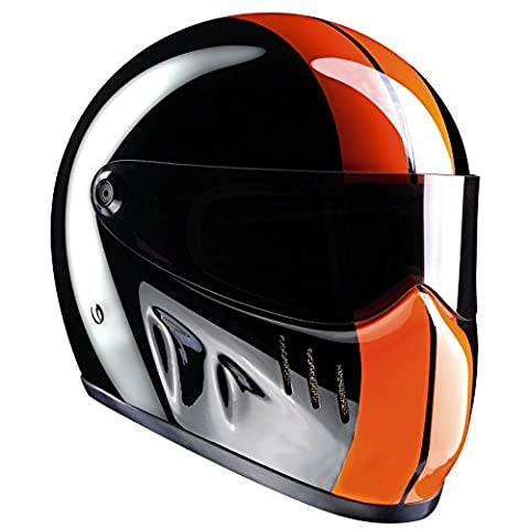 Bandit - XXR - New Motorcycle Helmet - for Streetfighter, Mad Max, Size:XXL (63);Color:black/orange