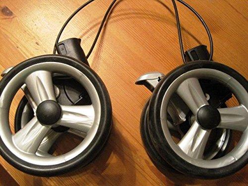 2009 Reifen (Peg Perego Doppel Hinter Rad schwarz für Pliko P3 komplett ab 2007-2010)