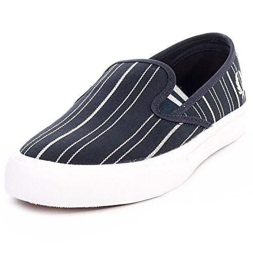 Fred Perry Turner Slip On Stripe Uomo Trainers Navy