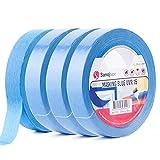 Sanojtape Professionelles UV-beständiges Abklebeband (Viererpack) Blau 25mm x 50m