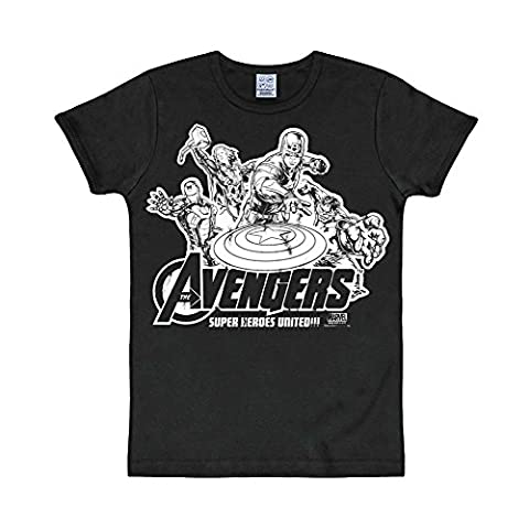 Comics marvel avengers heros vintage t-shirt XS Noir - noir