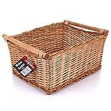 Large Wicker Storage Basket Household Log Fireside Gift Hamper Traditional Natural NEW