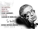 777 Tri-Seven Entertainment Stephen Hawking Poster, Mehrfarbig, 24x 18