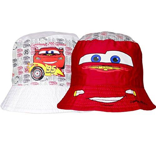 Disney/Pixar Cars Boy Bonnet de Seau Chapeau de soleil, 3–10ans nouvelle collection 2016 blanc/rouge