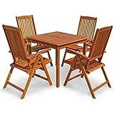 """Indoba Gartenmöbel Set, 5-teilig""""Sun Shine"""" - Gartenset - Serie, braun, 85 x 85 x 74 cm, IND-70299-SSSE5Q"""