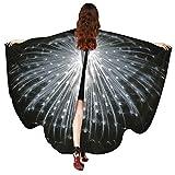 Schal,Sasstaids Frauen Pfau Flügel Schal Schals Damen Nymphe Pixie Poncho Kostüm Zubehör