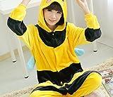 CWJ Unisex Adult Pyjamas - Plüsch One Piece Cosplay Tier Kostüm Winter Verdickung Freizeitbekleidung,Biene,L