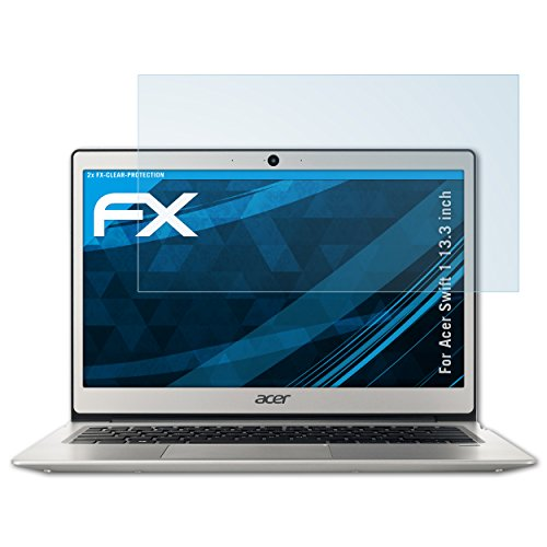 atFolix Schutzfolie kompatibel mit Acer Swift 1 13.3 inch Folie, ultraklare FX Bildschirmschutzfolie (2X)