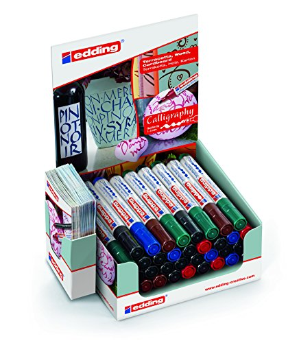 edding 4-51539 Calligraphy 1455 Marker Display, 36 Teile, Karton, 166 x 102 x 200 mm
