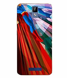 Case Cover Superman Printed Colorful Soft Back Cover For Gionee P7 MAX