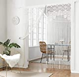 Spitzen-Türvorhang, toll als Trennwand, mit Quasten- / Fransen-Design (88,9x 221cm)