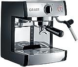 Graef ES702EU01 Siebträger-Espressomaschine, Rostfreier Stahl, Schwarz-Matt/Edelstahl