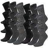 PUMA Unisex Crew Socks Socken Sportsocken MIT FROTTEESOHLE 18er Pack (Anthracite / Grey, 43-46)