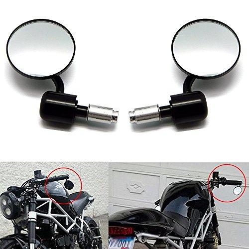 """Universal 22mm 7/8\"""" Motorrad Spiegel Lenkerenden Rueckspiegel Runde Für Honda Yamaha Suzuki"""