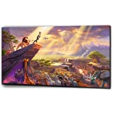 "Plush Prints Disney Lion King Simba - Canvas Print - Dominant Colour: As Shown In Picture - Canvas Size: 12"" X 20"""