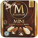 Magnum MAGNUM Ice Cream Mini Classic, Almond & White 6 x 60ml (Frozen)