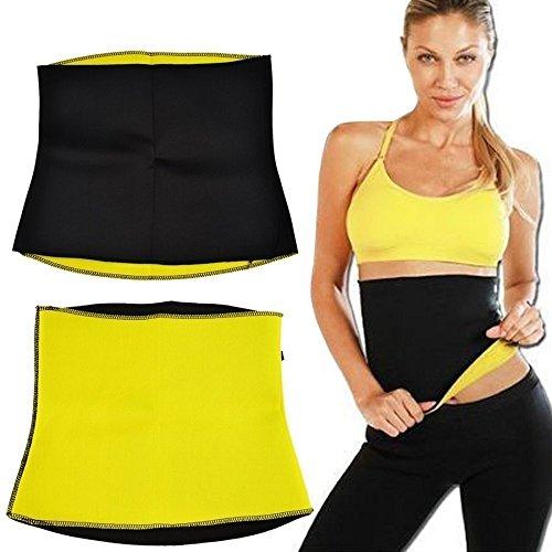 OnlineWorld Best Quality Unisex Body Shaper for Women   Men Weight Loss Tummy - Body Shaper Belt Slimming Belt Waist Fitness Belt (XXL, Yellow)