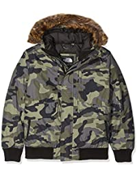 The North Face Kids TNF Chaqueta de plumón Gotham, Niños, New Taupe Green Camouflage Print, M