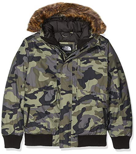THE NORTH FACE Jungen Gotham Daunenjacke, New Taupe Green Camouflage Print, S