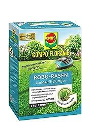 COMPO FLORANID Robo-Rasen Langzeit-Dünger, 3 Monate Langzeitwirkung, Feingranulat, 6 kg, 240 m²