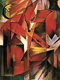 1art1 50938 Franz Marc - Füchse, 1913 Poster Kunstdruck 107 x 80 cm